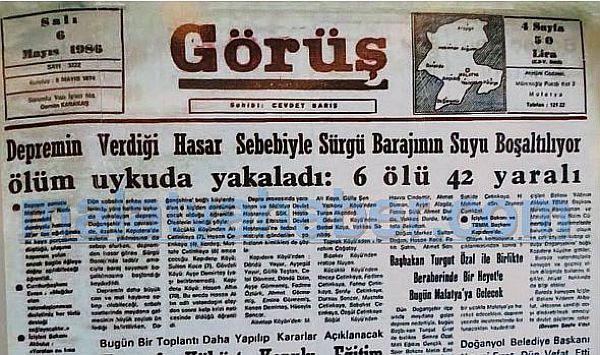 90 Yıl Sonraki Malatya Manşetleri