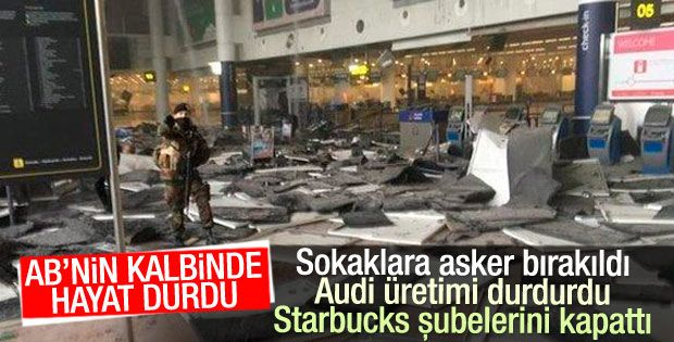 Terör Brüksel'i Vurdu…