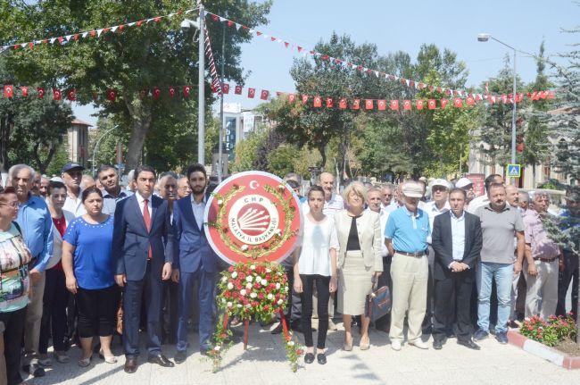 CHP ATATÜRK ANITINA ÇELENK SUNDU (BARIŞ TÜREL/MALATYA-İHA)
