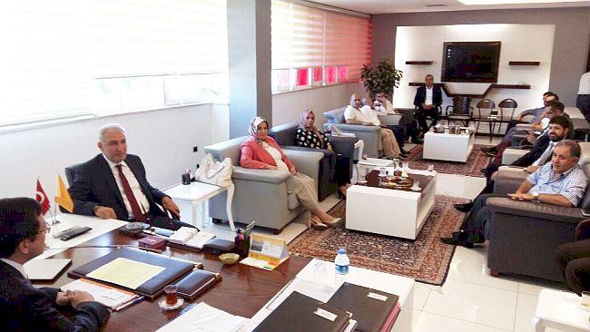 AK PARTİ'DEN REKTÖR KIZILAY'A ZİYARET (BARIŞ TÜREL/MALATYA-İHA)