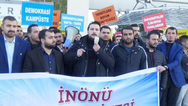 ÖĞRENCİLER 'TEHDİTLERE BOYUN EĞMEYECEĞİZ' SLOGANLARI ATTI (BARIŞ TÜREL/MALATYA-İHA)