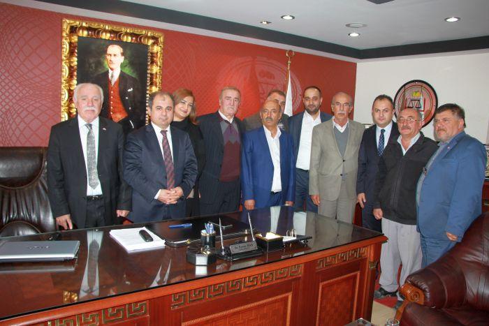 MHP DEN BARO BAŞKANINA HAYIRLI OLSUN ZİYARETİ (YAKUP ARKIN/MALATYA-İHA)
