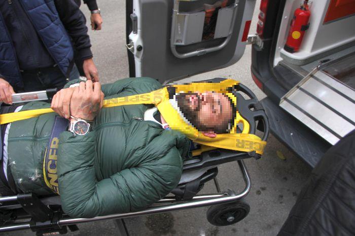 Aranan zanlı polisten kaçmak isterken ayağını kırdı 1