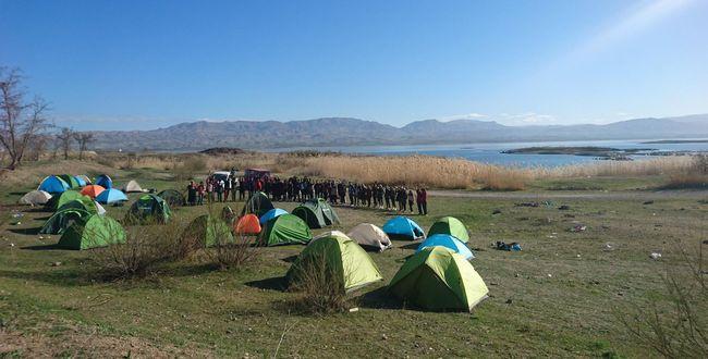 Eskimalatya'da Kamp Yaptılar