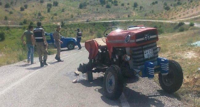 Traktörün Sürücüsü Yaralandı