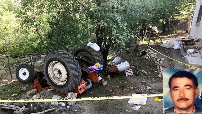Traktör Devrildi, Sürücüsü Öldü