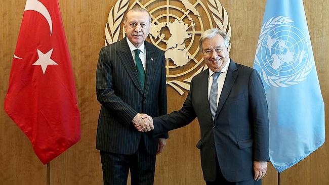 Erdoğan Gutteres'i Kabul Etti