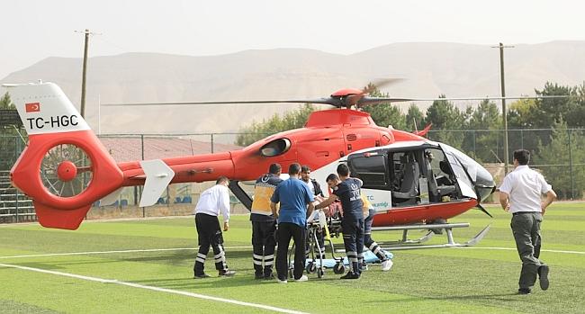 Hava Ambulansı İle Getirildi