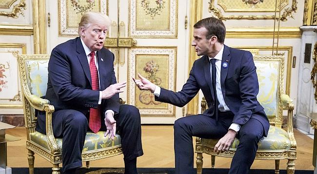 """Trump Macron'la Tartıştı.. """"Yük ABD'nin Üzerinde"""""""