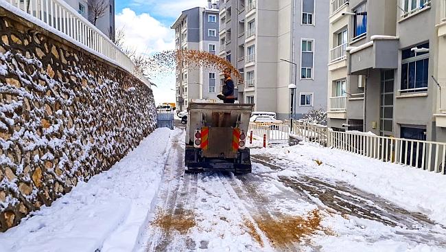 280 Köy Yolu Kardan Kapandı