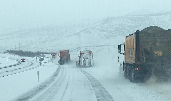 Malatya- Sivas Ulaşımına Kar Engeli