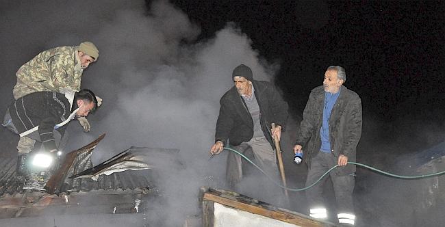 Arguvan'da Ev Yangını