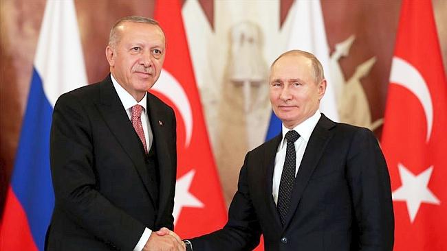 Erdoğan Putin'le Telefonda Görüştü
