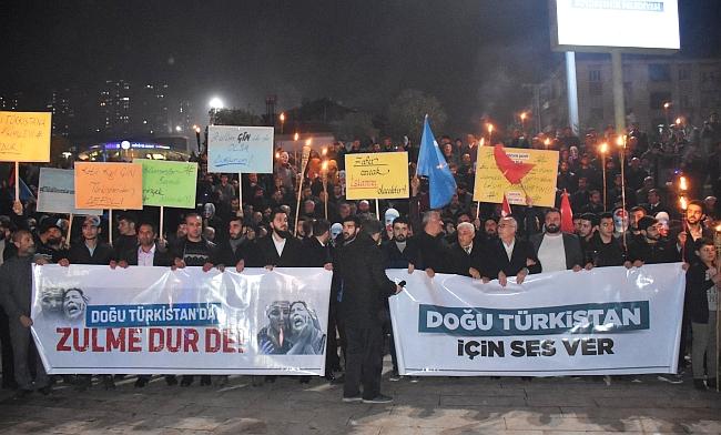Malatya'da Çin Protestosu