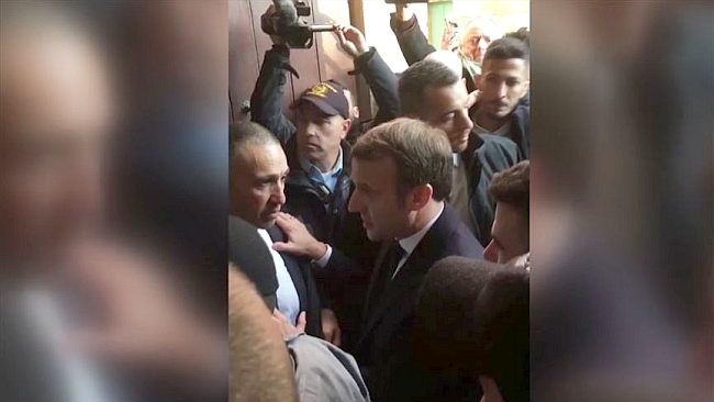 Macron İsrail Polisiyle Kapıştı!