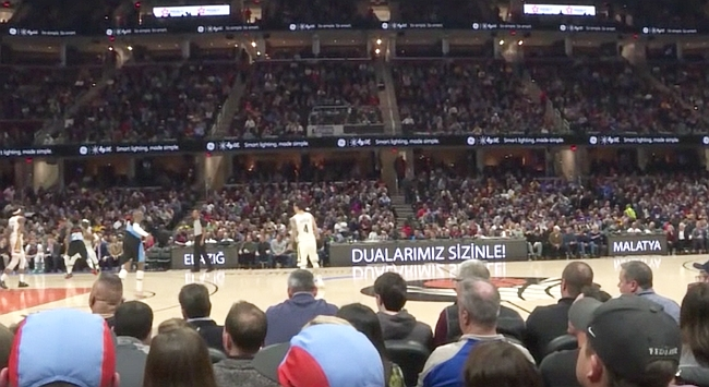 NBA Ligi Maçında Malatya ve Elazığ'a Mesaj