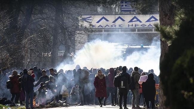 Yunanistan'dan Sınırdaki Göçmenlere Müdahale
