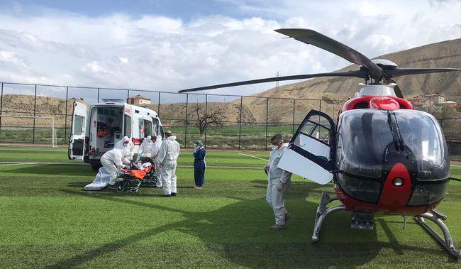 Helikopterle Malatya'ya Sevk Edildi