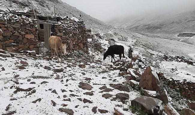 Yüksek Kesimlere Kar Yağdı
