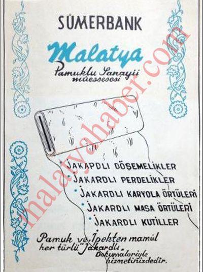 sumerbank malatya dergiden cikma reklam