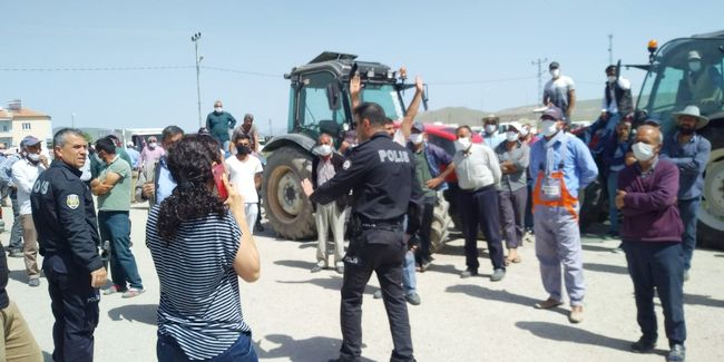 yazıhan çiftçi protesto1