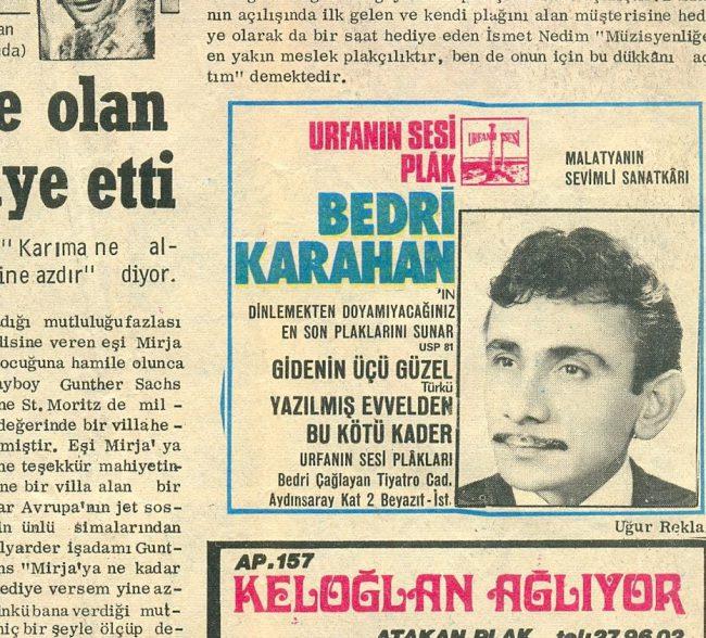SAKLANBAÇ GAZETESİ 29.02.1972 salı