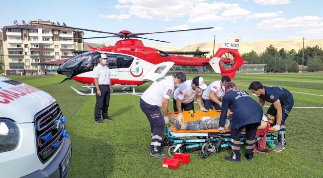 Hava Ambulansı Bir Günde 3 Hastayı Taşıdı