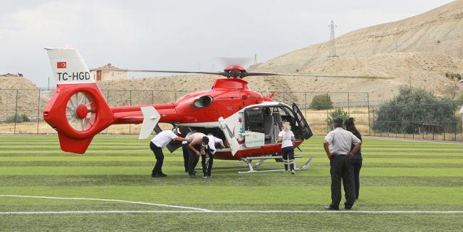 Helikopterle Malatya'ya Nakledildi