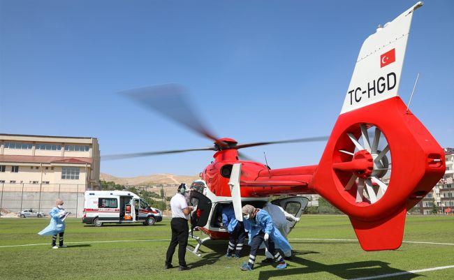 Helikopter Korona Hastası İçin Havalandı
