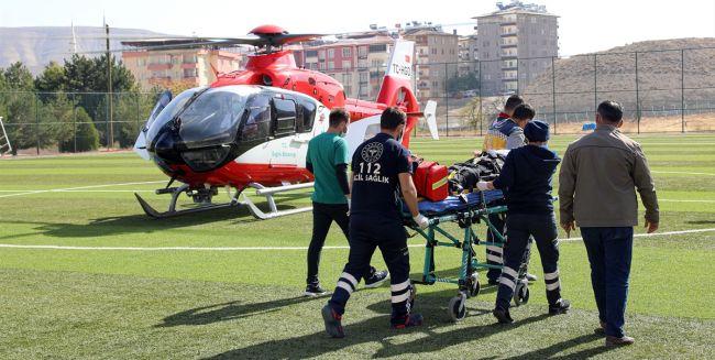 Ağır Yaralı Helikopterle Nakledildi