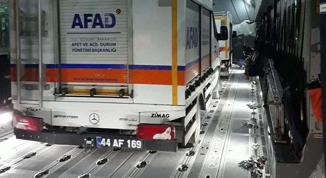 Malatya AFAD Ekibi de Uçakla İzmir'e Götürüldü