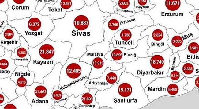 Bakandan Korona Aşılama Haritası Paylaşımı