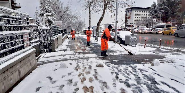 Battalgazi'de Kar Temizliği