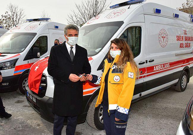 Tam Donanımlı 9 Ambulans Hizmete Başladı