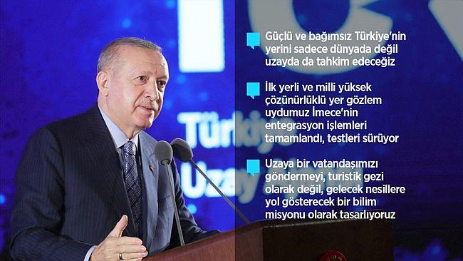 """Erdoğan: """"2023'te Aya Gideceğiz"""""""