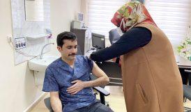 Doğanşehir Kaymakamı Aşı Oldu