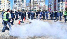 Yeşilyurt'ta Yangın Söndürme Tatbikatı