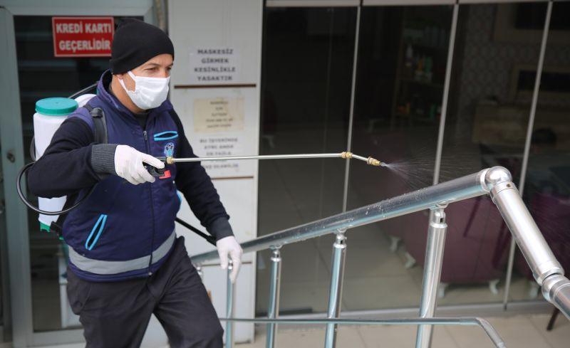 Battalgazi'de Dezenfekte Çalışmaları