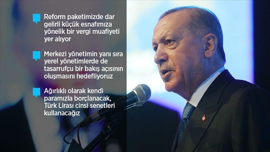 Erdoğan 'Ekonomik Reform Paketi'ni Açıkladı