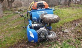 Çapa Motoru Devrildi, Sürücüsü Yaralandı