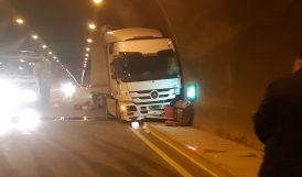 Karahan Tüneli'nde Kaza