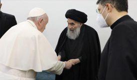 """Papa'dan Sistani Açıklaması.. """"Büyük ve Bilge Bir Adamı Görmeyi Görev Bildim"""""""