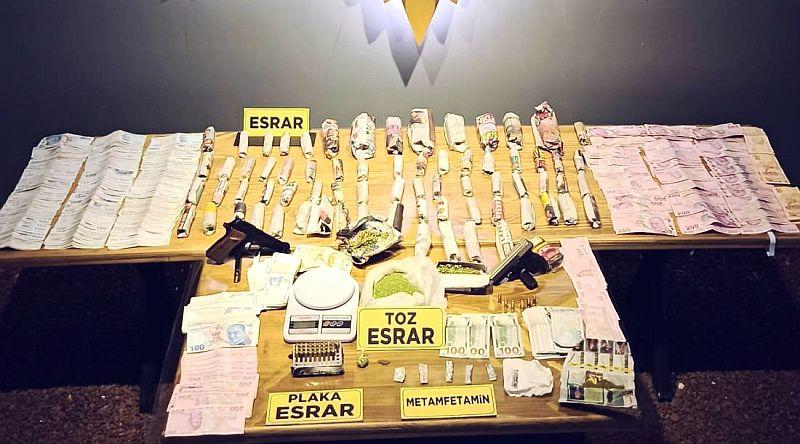 Narkotikten Torbacı Operasyonu.. 5 Tutuklama