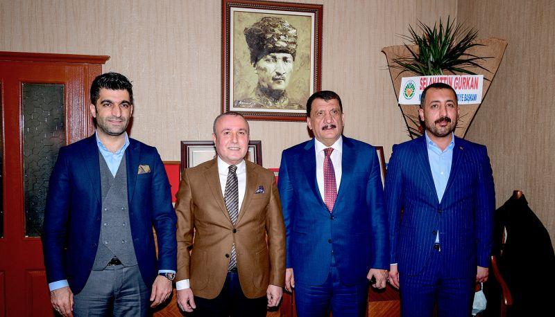 Gürkan'dan Ekici'ye Kutlama Ziyareti