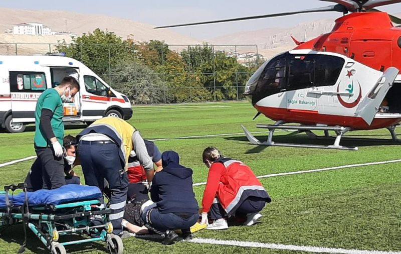 Kalp Krizi Geçirdi Malatya'ya Nakledildi