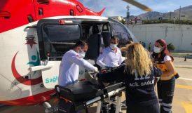 Arapgir'de Hasta Çocuk Helikopterle Nakledildi