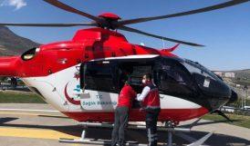 Parmağı Kopan İşçi Helikopterle Taşındı
