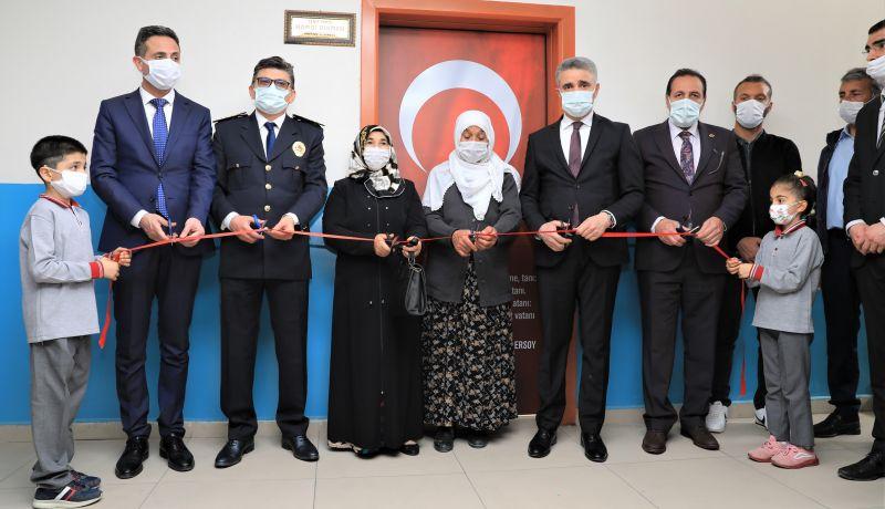 Şehit Polisin Anısına Okul Kütüphanesi