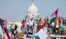 ABD'nin Başkentinde Filistin'e Destek Gösterisi
