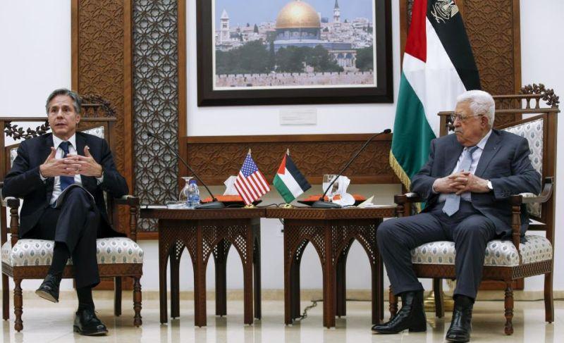 ABD Dışişleri Bakanı Abbas İle Bir Araya Geldi